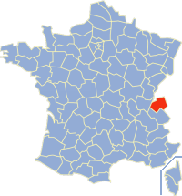 haute savoie map